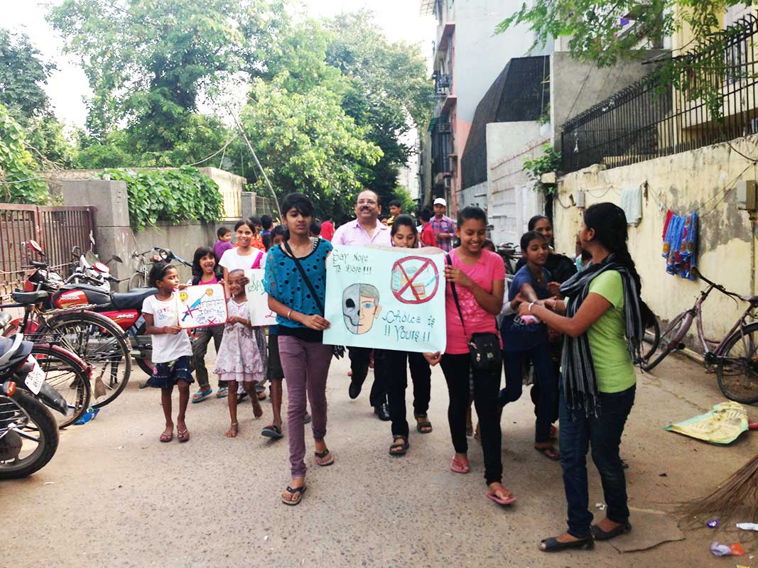Anti drug campaign- Prajna Foundation
